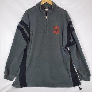 Harley Davidson Fleece 1/4 Zip Pullover Men 2XL